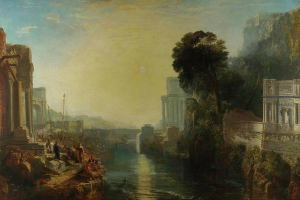 Wall Art - Painting - Dido Building Carthage by oseph Mallord William Turner