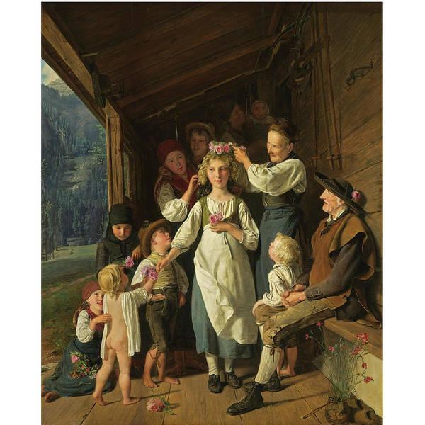 Bridesmaids Painting - Die Kranzeljungfer by MotionAge Designs