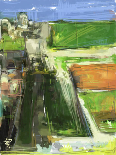 Farm Landscape Mixed Media - Diebenkorn Homage by Russell Pierce