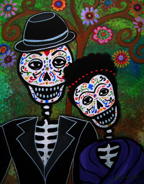 Painting - Diego Rivera And Frida Kahlo by Pristine Cartera Turkus