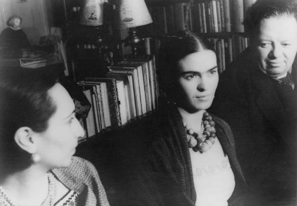 Kahlo Photograph - Diego Rivera And His Wife, Frida Kahlo by Everett
