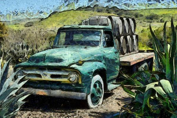 Photograph - Dierberg Star Lane Wine Truck Abstract by Floyd Snyder