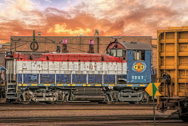 Photograph - Diesel Train Engine by Bill Posner