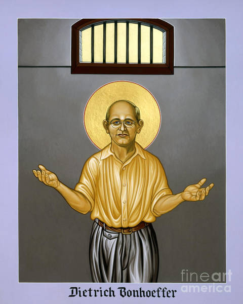 Painting - Dietrich Bonhoeffer - Lwdib by Lewis Williams OFS
