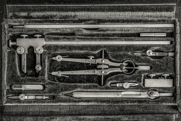 Drafting Photograph - Dietzgen Drafting Set by Mike Burgquist