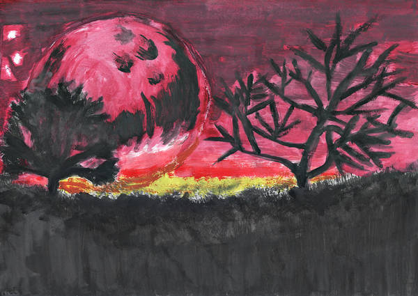Dominate Painting - Different Planet by Marta Kazmierska