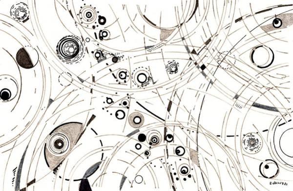 Drawing - Diffracting Around by Regina Valluzzi