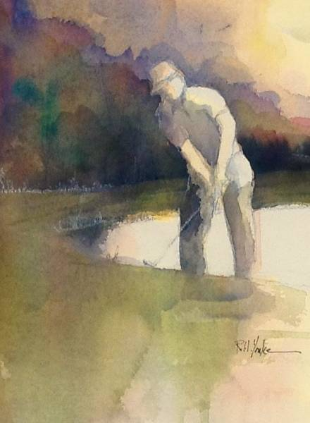 Golfers Painting - Digging Out by Robert Yonke