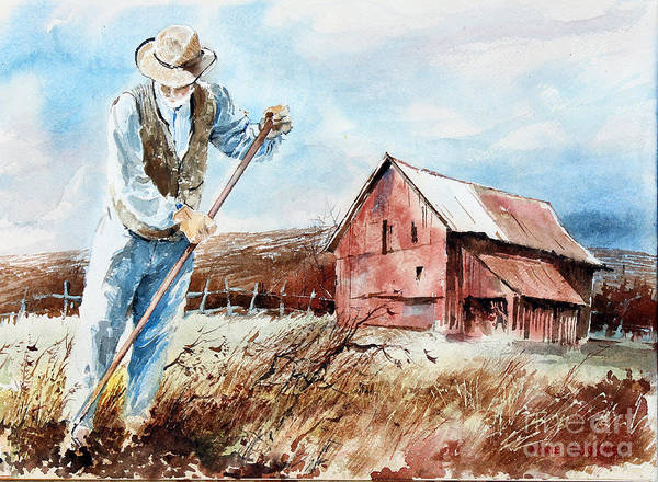 Painting - Digging Potatoes by Monte Toon