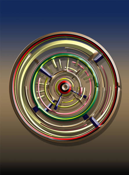 Digital Art - Digital Art Dial 4 by David Yocum