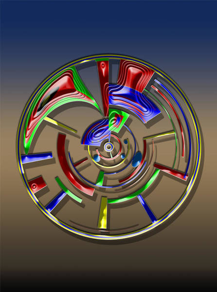 Digital Art - Digital Art Dial 6 by David Yocum