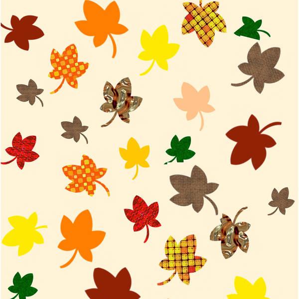 Digital Art - Digital Autumn Leaves 02 by Annette Hadley