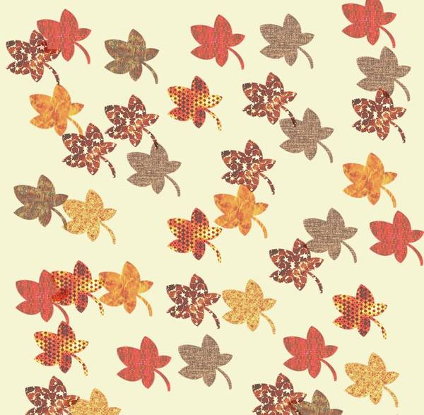 Digital Art - Digital Autumn Leaves 04 by Annette Hadley