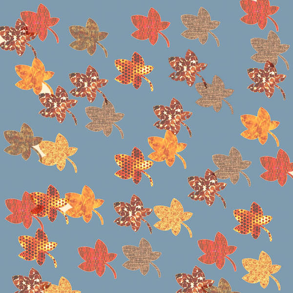 Digital Art - Digital Autumn Leaves 03 by Annette Hadley