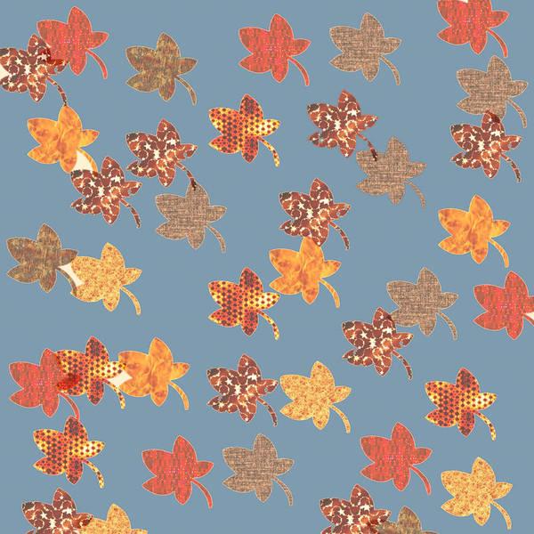 Digital Art - Digital Autumn Leaves 03 by Annette Hadley