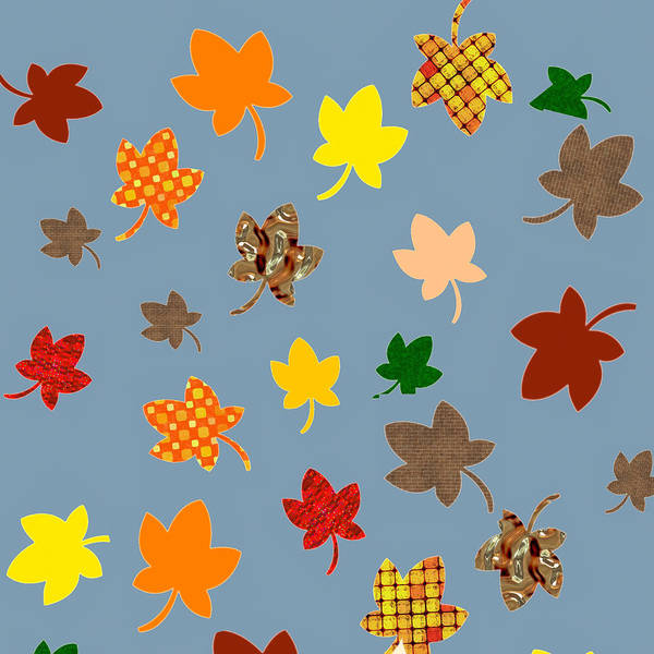 Digital Art - Digital Autumn Leaves 01 by Annette Hadley