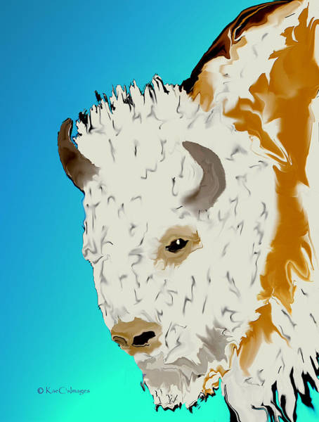 Digital Art - Digital Bison 3 by Kae Cheatham