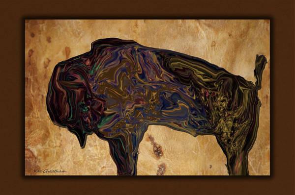 Digital Art - Digital Bison by Kae Cheatham