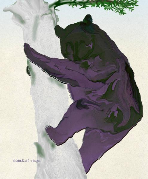 Digital Art - Digital Black Bear by Kae Cheatham