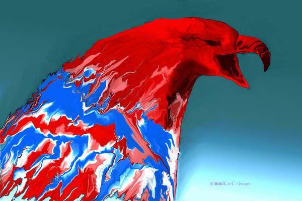Digital Art - Digital Eagle Angry Bird 1 by Kae Cheatham