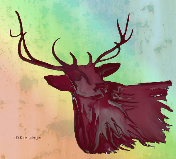 Digital Art - Digital Elk #1 by Kae Cheatham