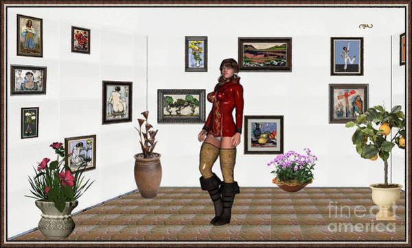 Wall Art - Mixed Media - digital exhibition 32  posing  Girl 31  by Pemaro