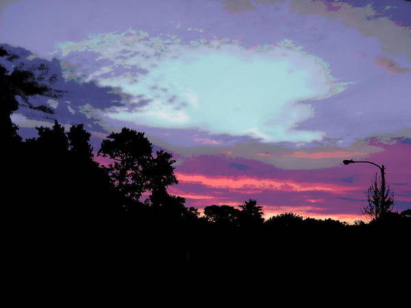 Painting - Digital Fine Art Work Sunrise In Violet Gulf Coast Florida by G Linsenmayer