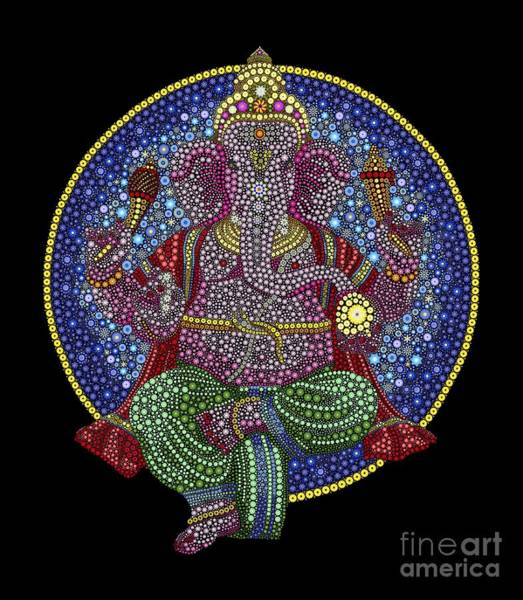 Digital Art - Digital Ganesha by Tim Gainey