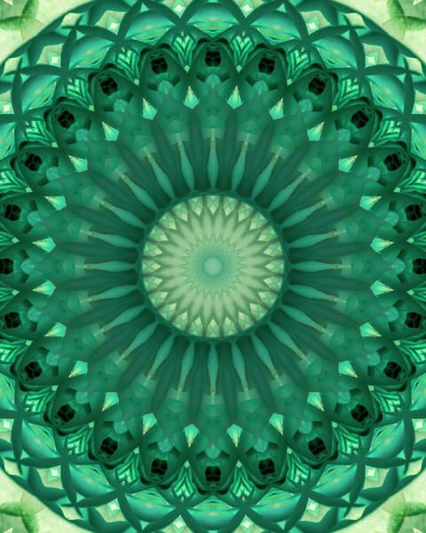 Digital Art - Digital Green Mandala by Jaroslaw Blaminsky