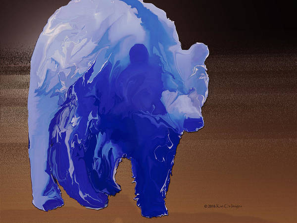 Grizzly Bears Digital Art - Digital Grizzly 2 by Kae Cheatham