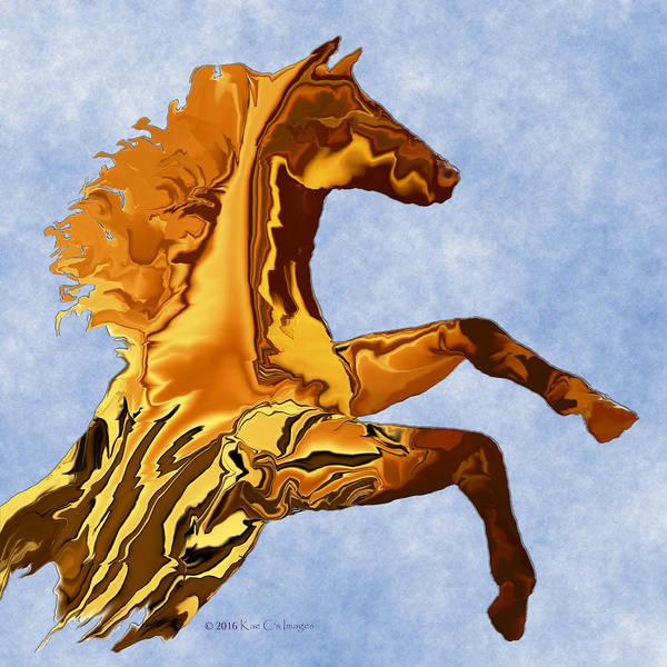 Digital Art - Digital Horse 2 Square by Kae Cheatham