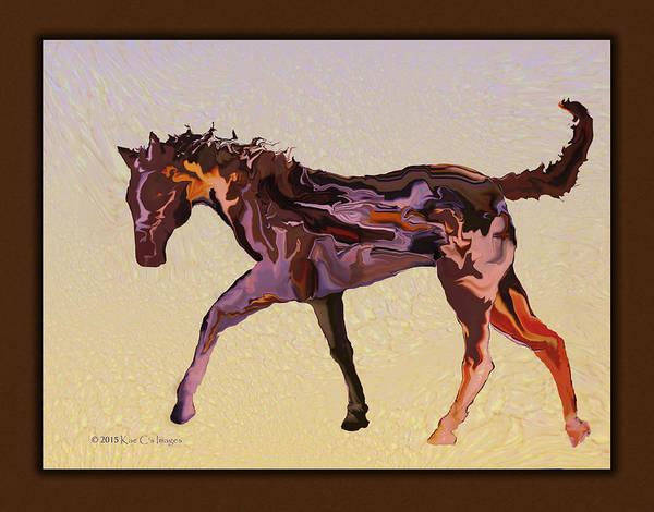 Digital Art - Digital Horse by Kae Cheatham