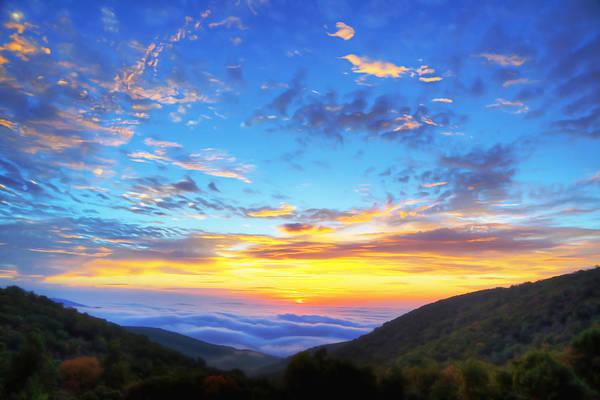 Digital Liquid - Good Morning Virginia Art Print