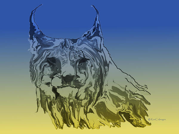 Digital Art - Digital Lynx 2 by Kae Cheatham