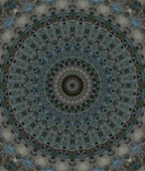 Photograph - Digital Mandala In Blue And Grey by Jaroslaw Blaminsky