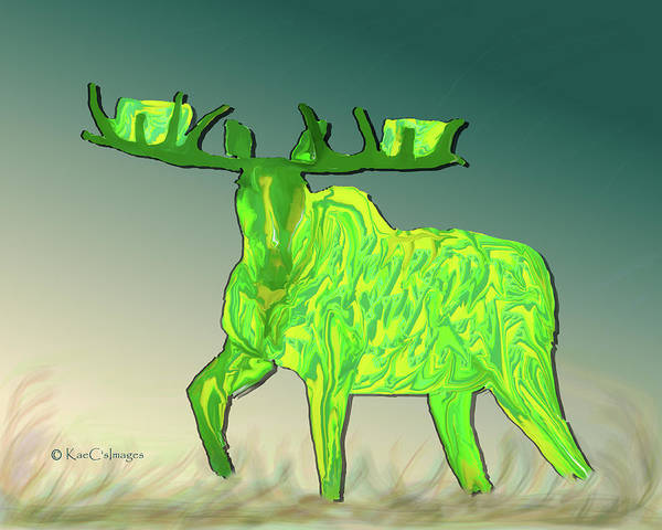Digital Art - Digital Moose #2 by Kae Cheatham