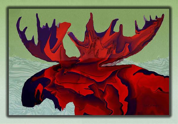 Digital Art - Digital Moose by Kae Cheatham