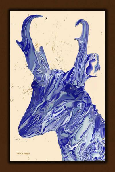 Digital Art - Digital Pronghorn by Kae Cheatham