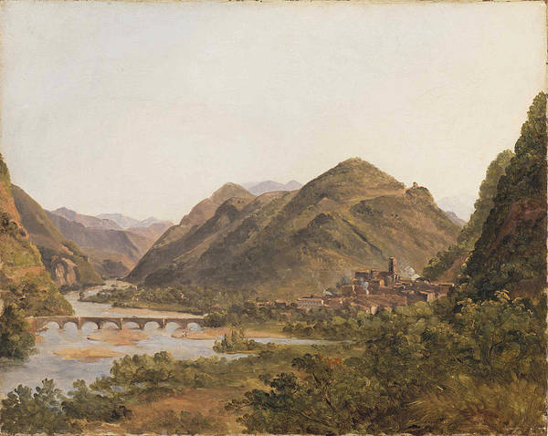 Lazare Painting - Digne From Saint-lazare by Francois Marius Granet