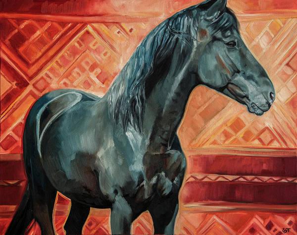 Horsemanship Painting - Dignidad by Shaila Yovan Tenorio