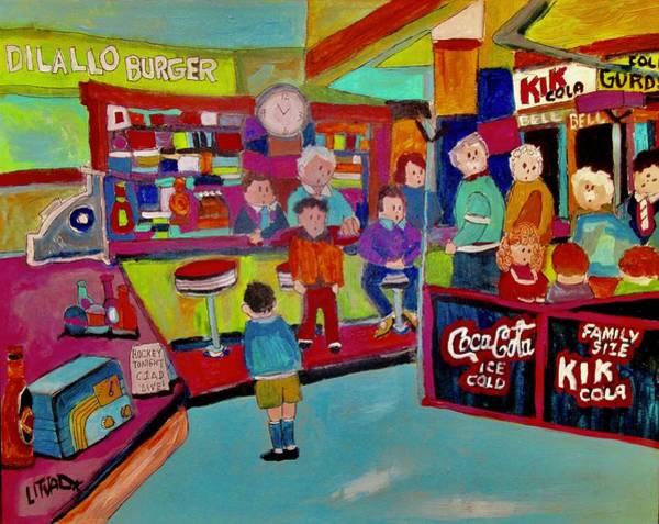 Wall Art - Painting - Dilallo Burgers by Michael Litvack