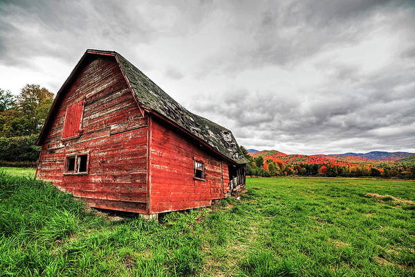 Photograph - Dilapidated Barn Keene New York Ny Route 73 Br by Toby McGuire