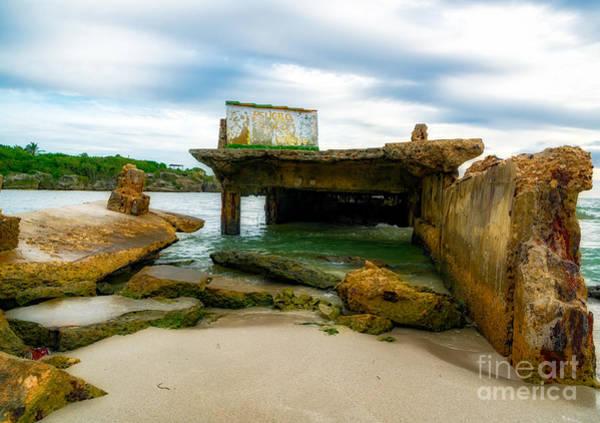 Wall Art - Photograph - Dilapidated Ocean Pier by DAC Photo