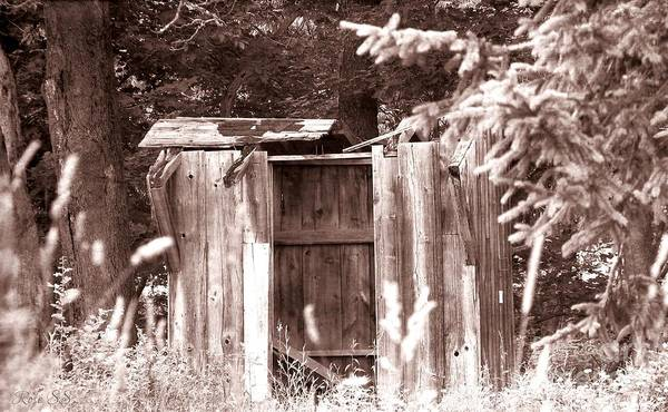 Photograph - Dilapidated Shed Sepia Old Western Effect by Rose Santuci-Sofranko