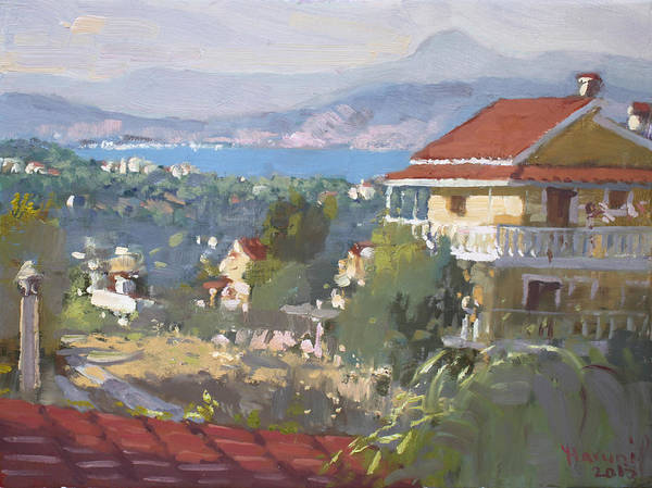 Villa Wall Art - Painting - Dilesi Athens by Ylli Haruni
