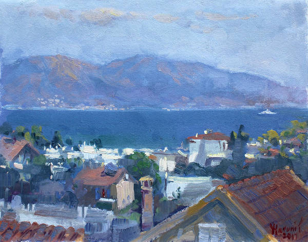 Greece Painting - Dilesi By Aegean Sea Greece by Ylli Haruni