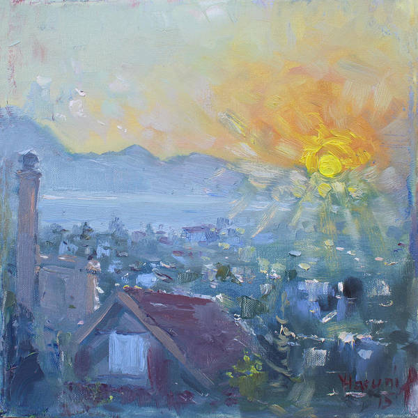 Greek Painting - Dilesi In A Brand New Day  by Ylli Haruni