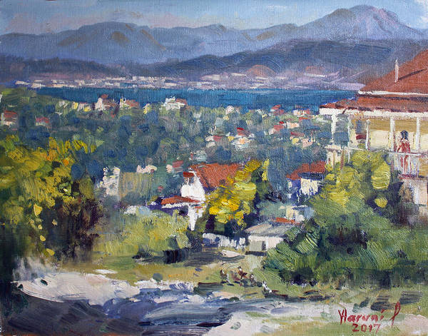 Greece Painting - Dilesi Village Athens by Ylli Haruni