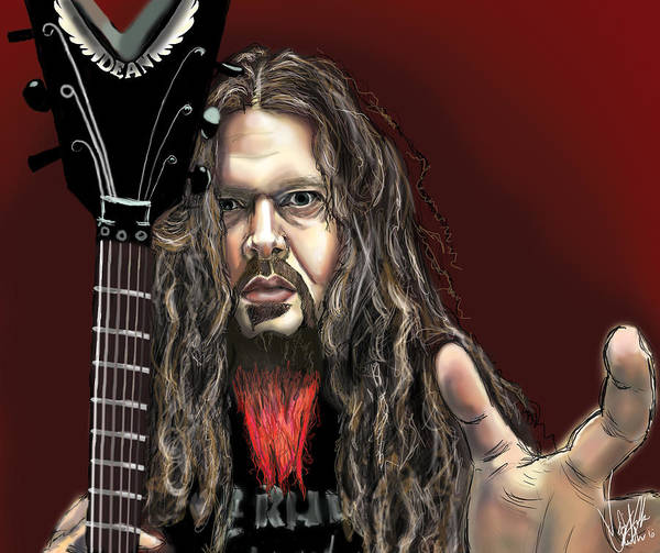 Thrash Metal Wall Art - Drawing - Dimebag Darrell by Vinny John Usuriello