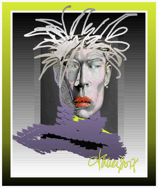 Mixed Media - Dimension - Hopping Einstein / Warhol / Yoshimoto Incarnation Triangulation by Larry Talley